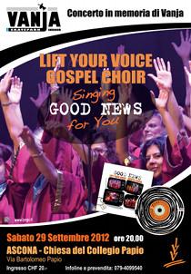 concerto ad Ascona, 29 settembre 2012, ore 20, chiesa del collegio Papio